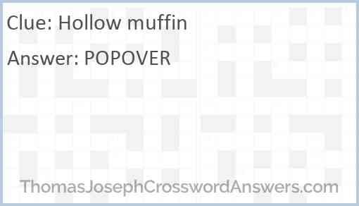 Hollow muffin Answer