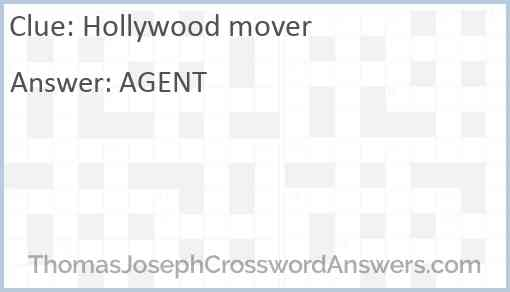 Hollywood mover Answer
