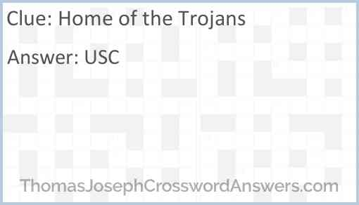 Home of the Trojans Answer