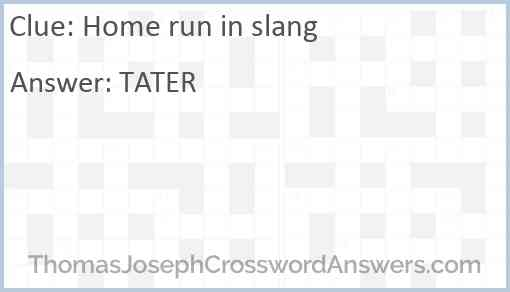 Home run in slang Answer