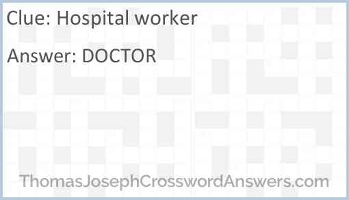 Hospital worker Answer