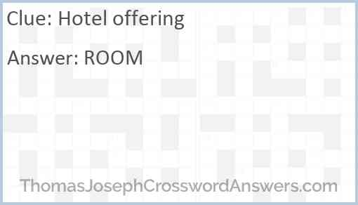 Hotel offering Answer