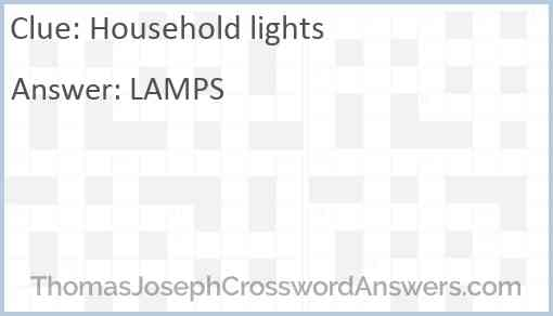 Household lights Answer