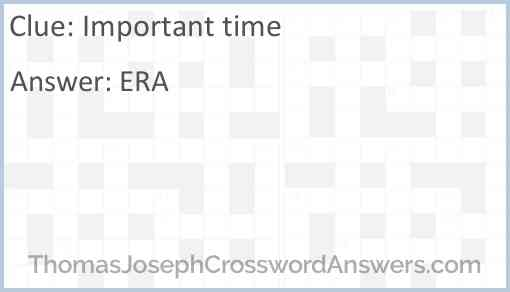 Important time Answer