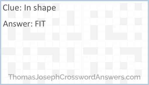 In shape Answer