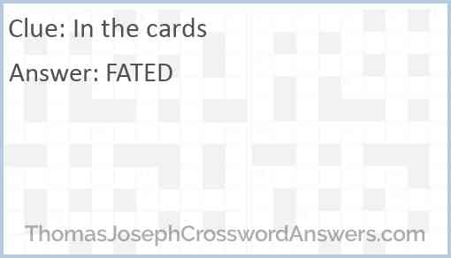 In the cards Answer