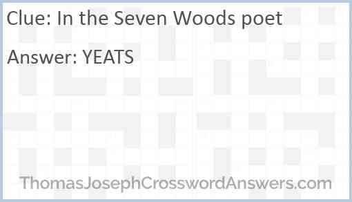 """""""In the Seven Woods"""" poet Answer"""