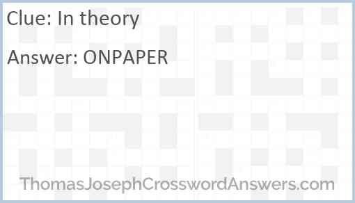 In theory Answer