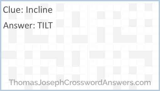 Incline Answer