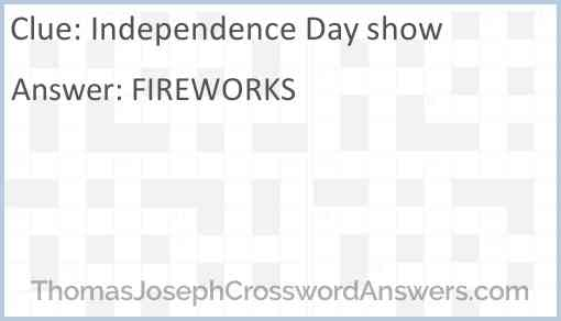 Independence Day show Answer