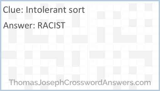 Intolerant sort Answer