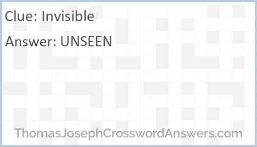 Invisible Answer