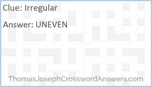 Irregular Answer