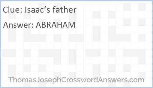 Isaac's father Answer