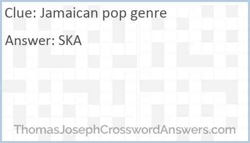 Jamaican pop genre Answer