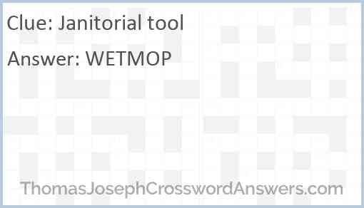 Janitorial tool Answer