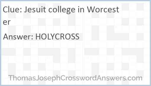 Jesuit college in Worcester Answer