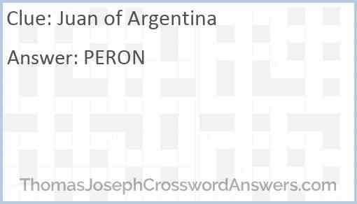 Juan of Argentina Answer