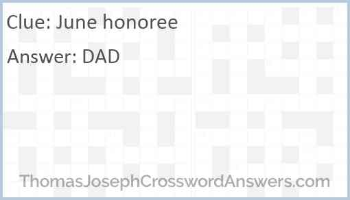 June honoree Answer