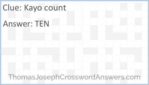 Kayo count Answer