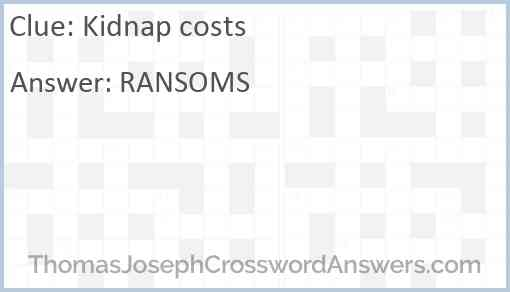 Kidnap costs Answer