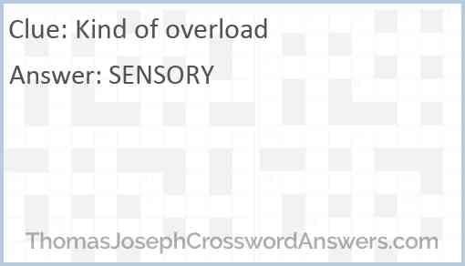 Kind of overload Answer