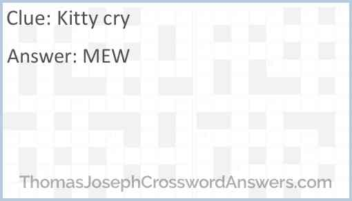 Kitty cry Answer
