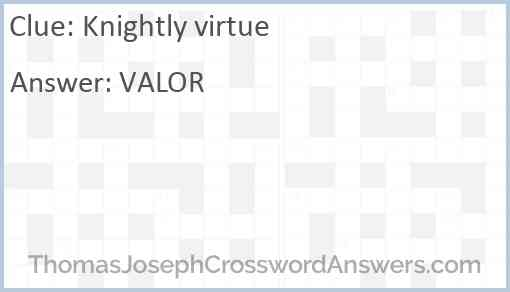 Knightly virtue Answer
