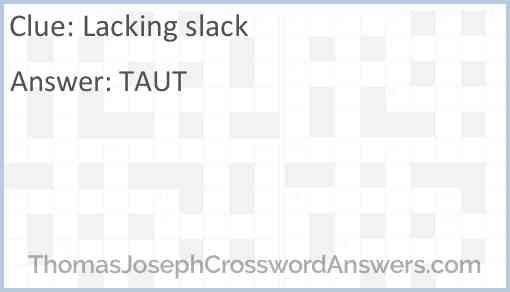Lacking slack Answer
