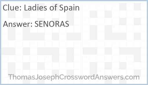 Ladies of Spain Answer