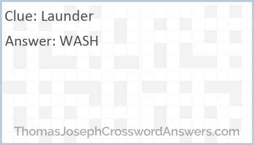 Launder Answer