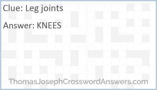 Leg joints Answer
