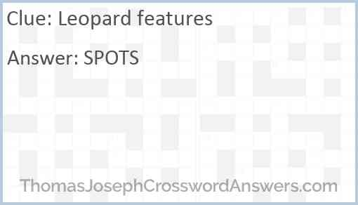 Leopard features Answer