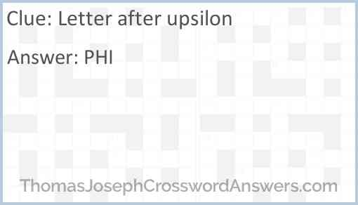 letter after upsilon crossword letter after upsilon crossword clue 19418 | letter after upsilon