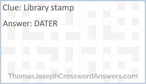 Library stamp Answer
