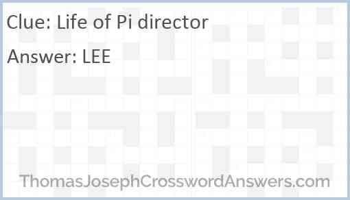 """""""Life of Pi"""" director Answer"""