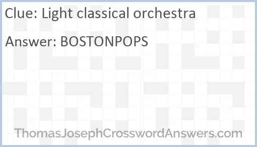 Light classical orchestra Answer