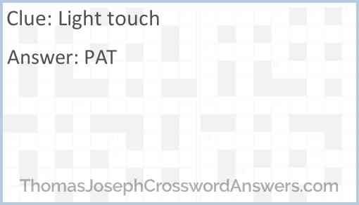Light touch Answer