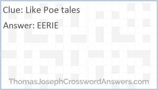 Like Poe tales Answer