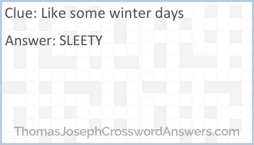 Like some winter days Answer