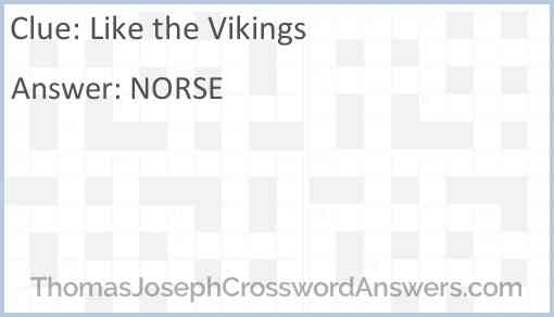 Like the Vikings Answer