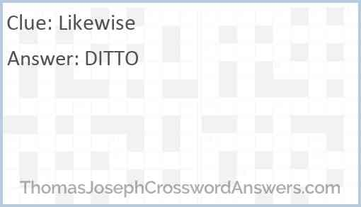Likewise Answer