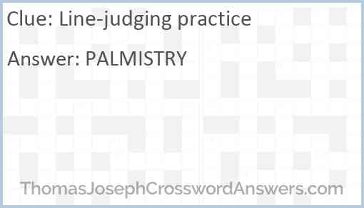 Line-judging practice Answer