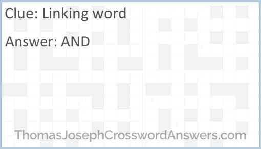 Linking word Answer