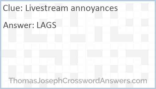 Livestream annoyances Answer