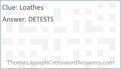 Loathes Answer