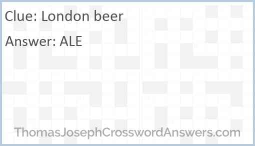 London beer Answer