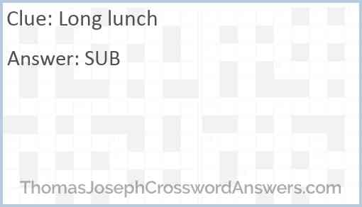 Long lunch Answer