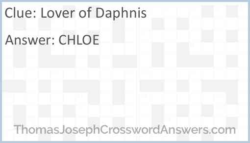 Lover of Daphnis Answer