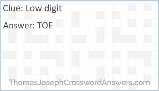 Low digit Answer